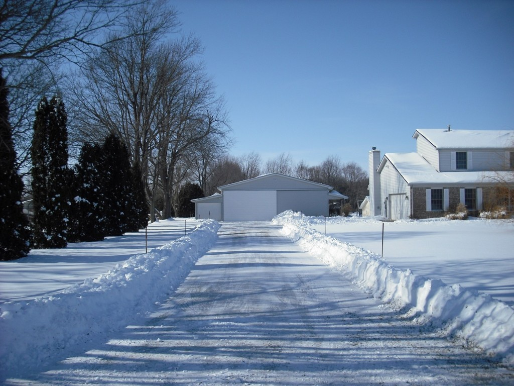 plowed driveway